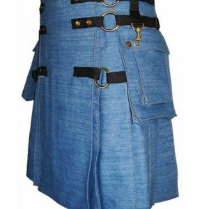 Mens Denim Fashion Kilts For Sale