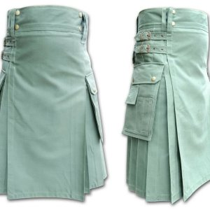 Men's Modern Khaki Green tactical Utility Kilts