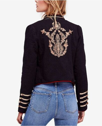 People Lauren Band Jacket Military Embroidered Gold