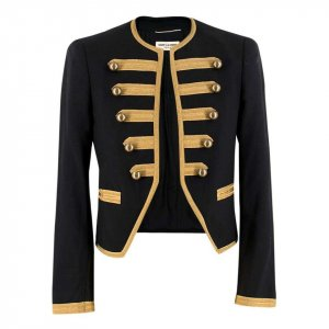 Men's Wool Embroidered Officer Jacket