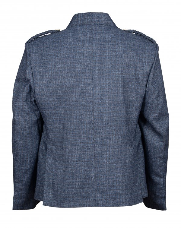 Men Gray Wool Argyle Jacket and with Five Button Waistcoat
