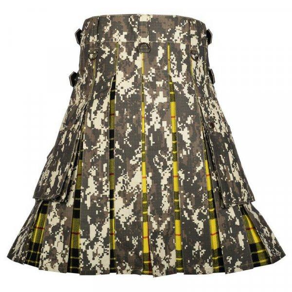 Scottish Fashion Utility Hybrid Camo Kilt Acrylic Wool Tartan