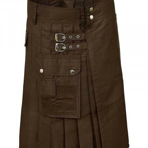 Scottish Fashion For Men Brown Utility Kilts