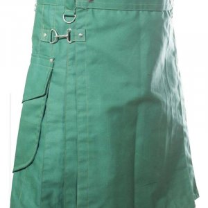 Scottish Fashion For Men Sea Green Utility Kilts
