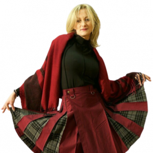 Kilt Kiltish ladies maroon utility Scottish kilt