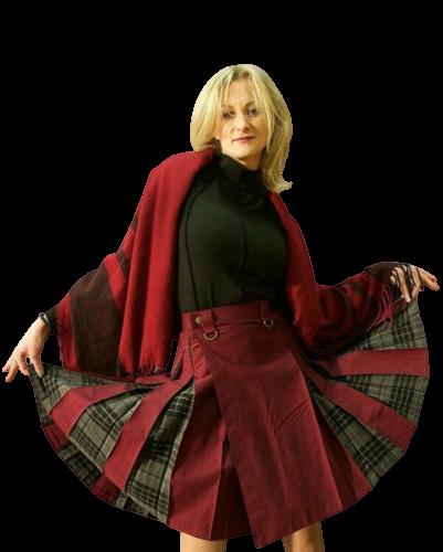 Kilt Kiltish ladies maroon utility Scottish kilt