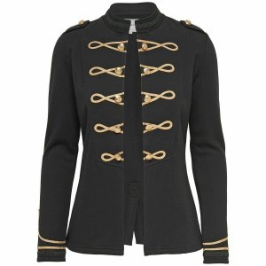 Black Ladies Officer's Jacket WOOL Jackets Ralph Lauren Braid Jacket