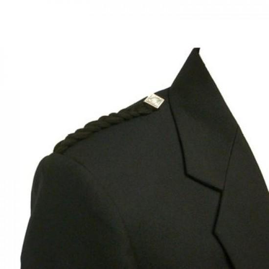 Black Scottish Kilt Argyll Jacket & 5 Buttons Waistcoat