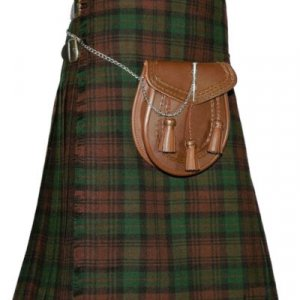 Traditional Brown Watch Tartan kilt Custom Made Leather Strap