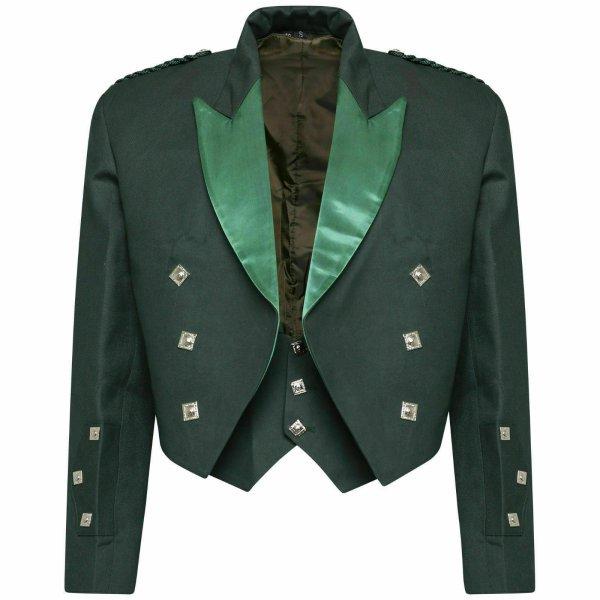 Scottish Highland Prince Charlie Kilt Jacket & Waistcoat