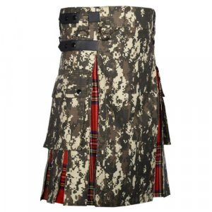Scottish Fashion Utility Hybrid Digital Camo Kilt Cotton