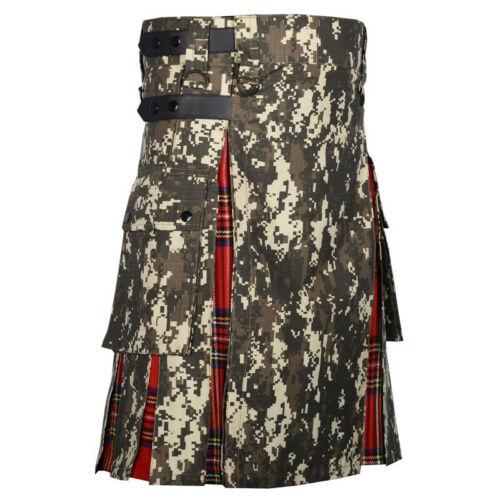 Scottish Fashion Utility Hybrid Digital Camo Kilt Cotton