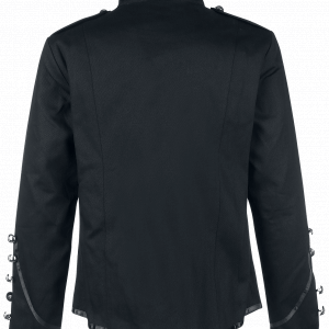 Banned Military Drummer Men Uniform Jacket Black