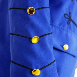 Blue Halloween Wool Drummer Military Marching Band Jacket