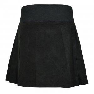 """Ladies Knee Length Black Kilt Skirt 20"""" Length Tartan Pleated"""
