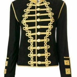 New Black Ladies Wool Braid Jacket
