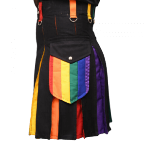 New Buy Hybrid Scottish LGB Gay Pride kilt Modern kilt men Utility kilt
