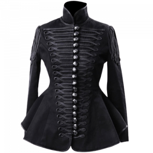 Ladies Black Hussar Military jacket
