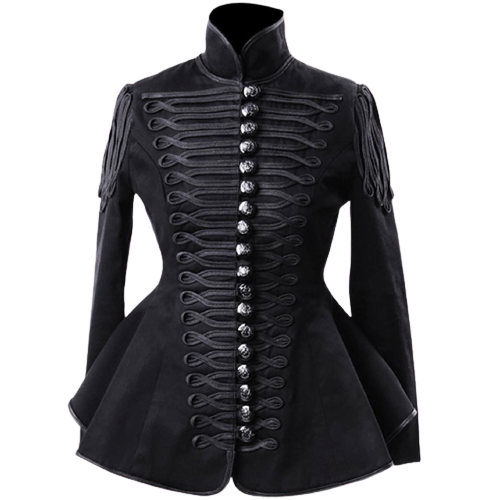 iLadies Black Hussar Military jacket