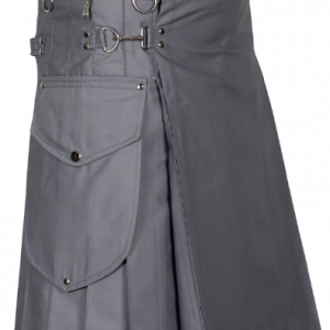 Modern Utility Kilt With Cargo Pockets