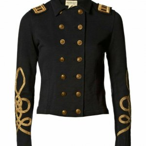 New Black Ladies officers' s Wool Braid Jacket