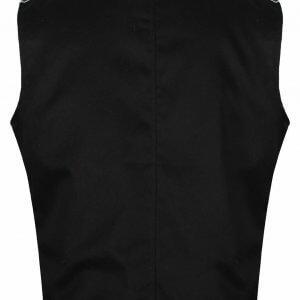 Black/Silver Men's Military Hussar Drummer Vest Waistcoat