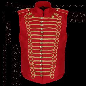 Mens Military Hussar Drummer Vest Waistcoat
