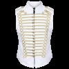 White/Gold Men's Military Hussar Drummer Vest Waistcoat