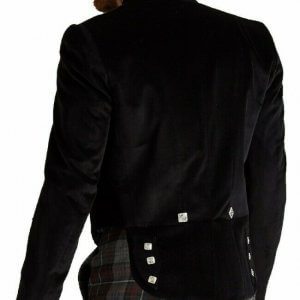 Custom Made New Prince Charlie Kilt Jacket Scottish Velvet Prince Charlie Jacket