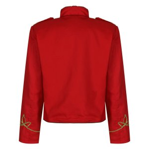 Red Gold Officer Military Drummer Parade Jacket