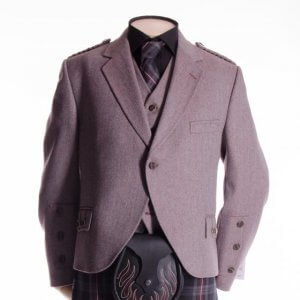 Crail Jacket and Vest in Rust Herringbone fabric