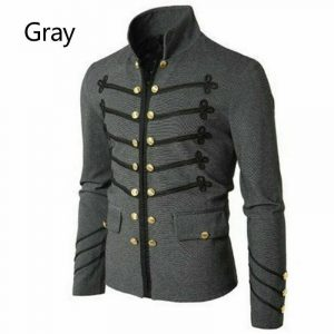 Gray Piper Drummer Military Marching Halloween Jacket