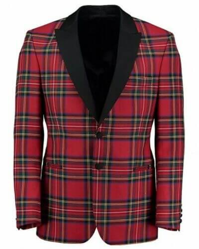 Scottish Men's Kilt Jacket – Handmade Royal Stewart Tartan Wool Jacket