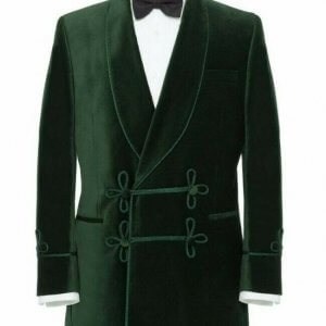 Men Smoking Jacket Green Blazer Coats Elegant Luxury Designer Party Wear Jacket