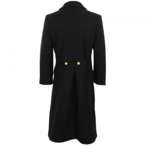 Black Navy Wool Great Coat - Winter Trench Naval Military