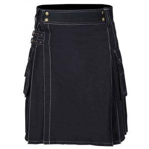 Mens Scottish Black Work Kilt Fashion Utility Kilts